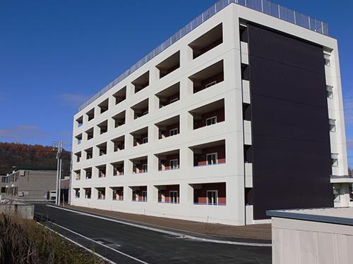 遠軽町営北2条団地(北海道) 設計:アトリエブンク